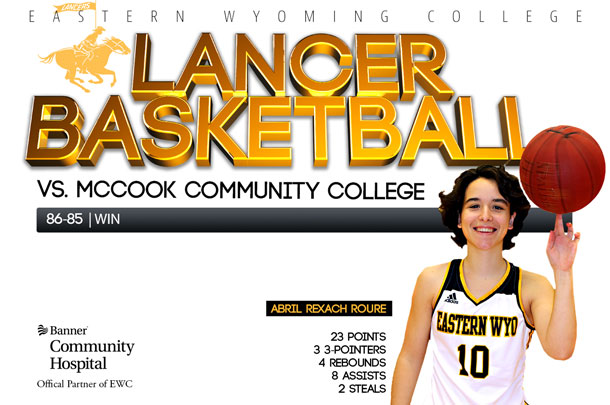 Eastern Wyoming College Lady Lancer Basketball team vs. McCook Community College Basketball team