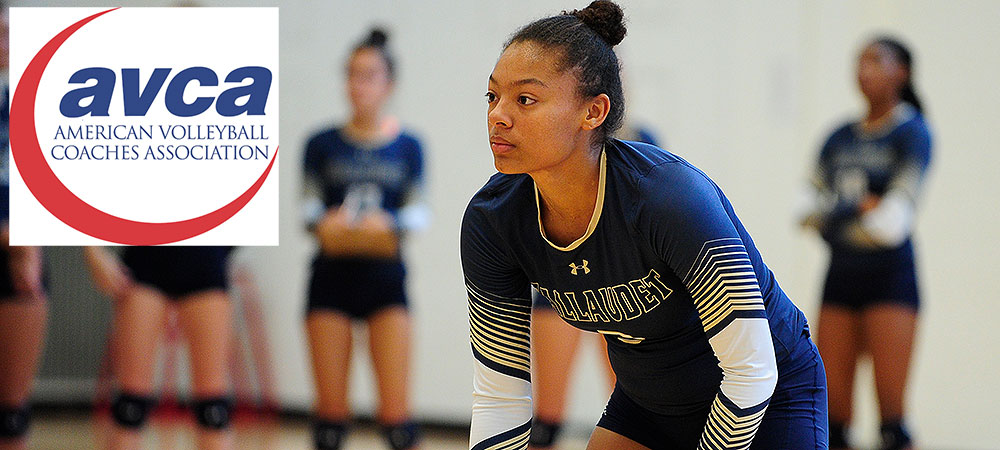 Gallaudet's Darriyan Thomas selected as an AVCA All-America honorable mention