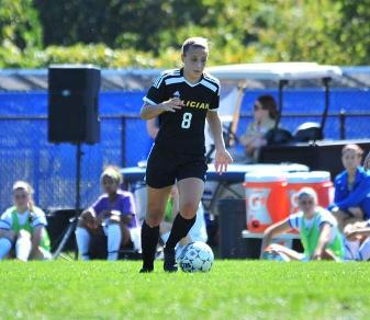 Macki Groves is the 10th Golden Falcon, including the third women's soccer player, to be named CACC Student-Athlete of the Month. (Dave Schofield)