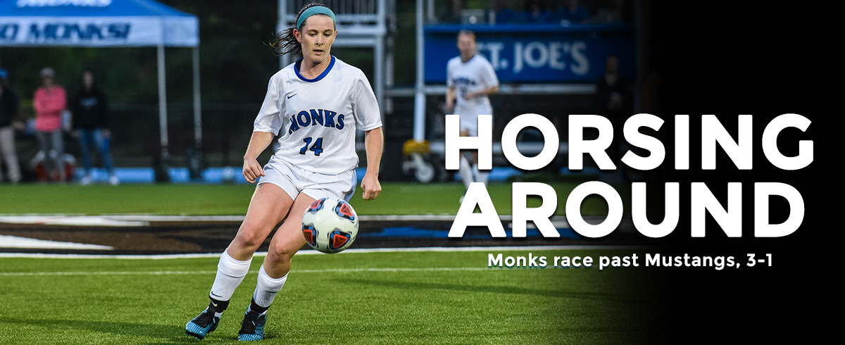 Monks Gallop Past Mustangs, 3-1