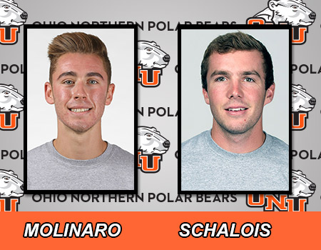 Molinaro and Schalois leads Men's Indoor Track & Field on Day 2 of OAC Championships