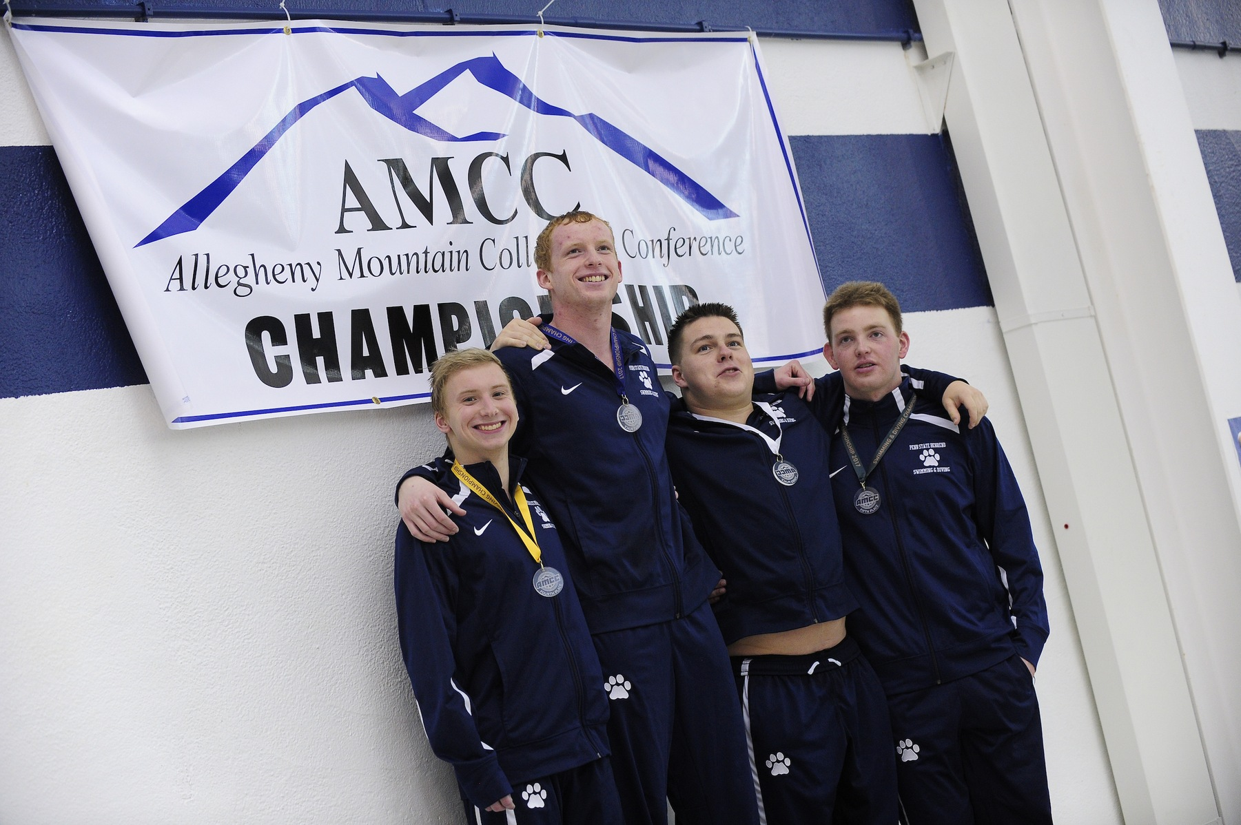Men's Swimming and Diving Extends Lead at AMCC Championships
