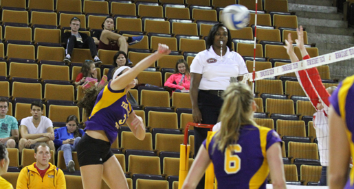 Tech volleyball team unable to handle hot-hitting Bruins