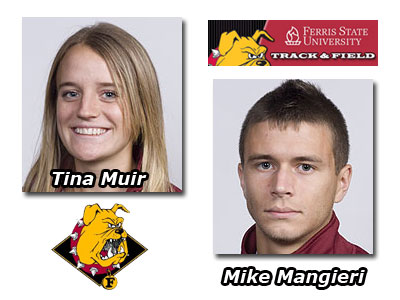 FSU's Tina Muir & Mike Mangieri were both winners at the GVSU Bob Eubanks Open