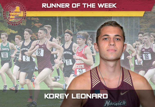 Men's Cross Country: Leonard Named GNAC Runner of the Week