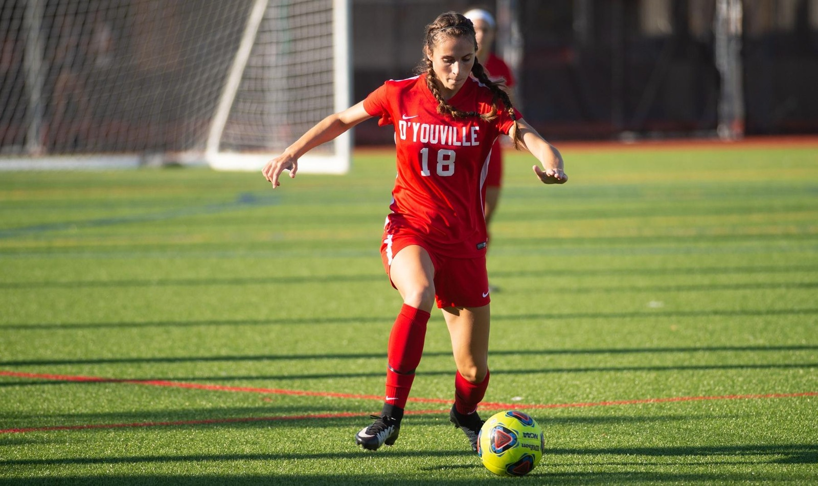 Freshman Margret Leeds recorded a goal and assist in the team's 2-0 win over Pitt.-Greensburg