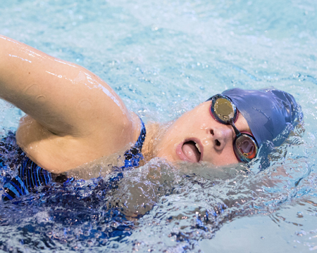 Bison women's swimming team completes double dual meet sweep