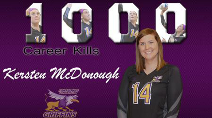 Fontbonne's McDonough Records 1,000th Career Kill
