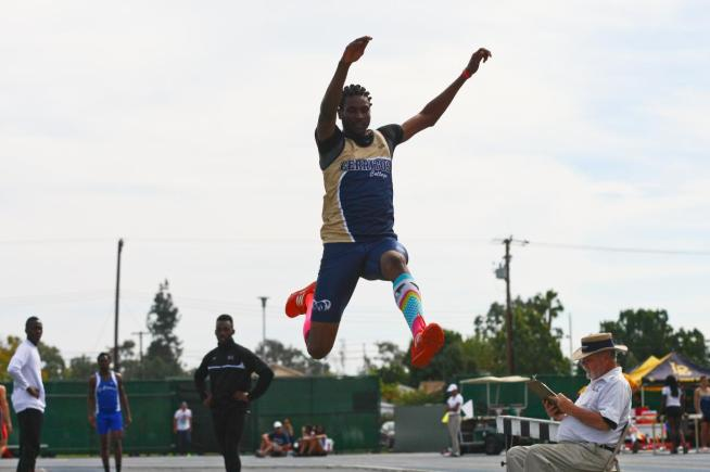 File Photo: Dionbrea Norris won the long jump at the Mt. SAC Relays