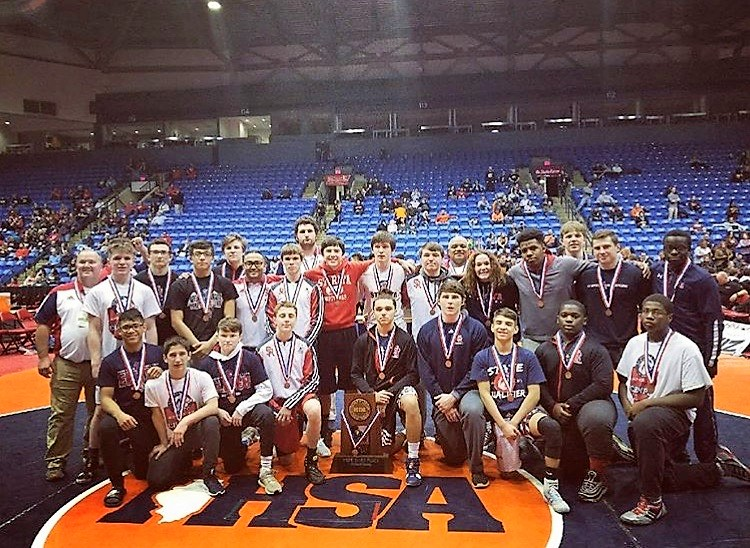 Wrestling Team Brings Home Third Place Trophy