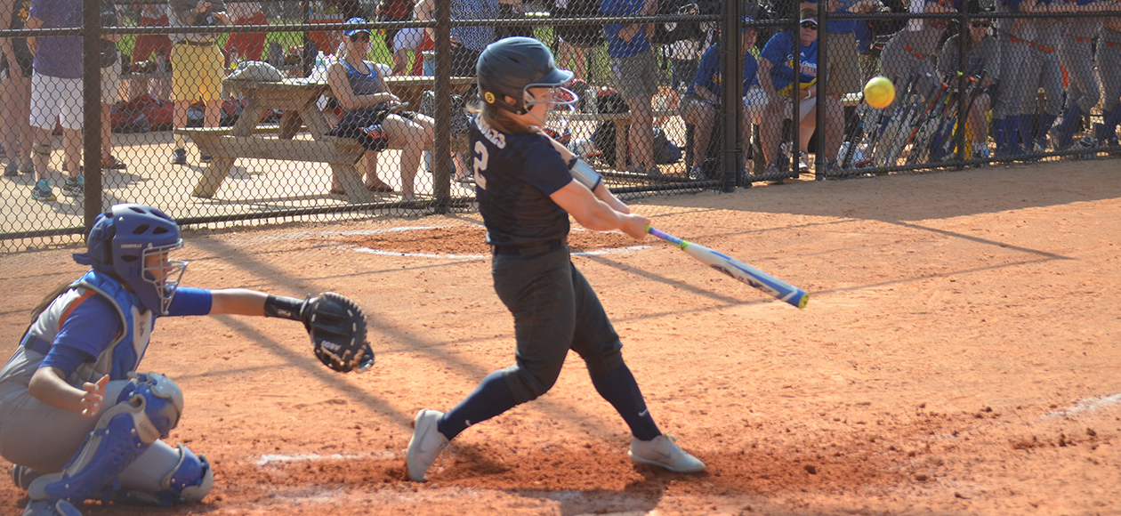 Alicia Regnault was 3-for-7 against the Mounties with two RBIs.