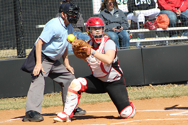 The Lady Red Devils use big fifth inning to beat KCK CC, 13-3
