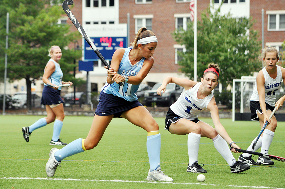 Lasell Field Hockey doubles up Colby-Sawyer in GNAC opener