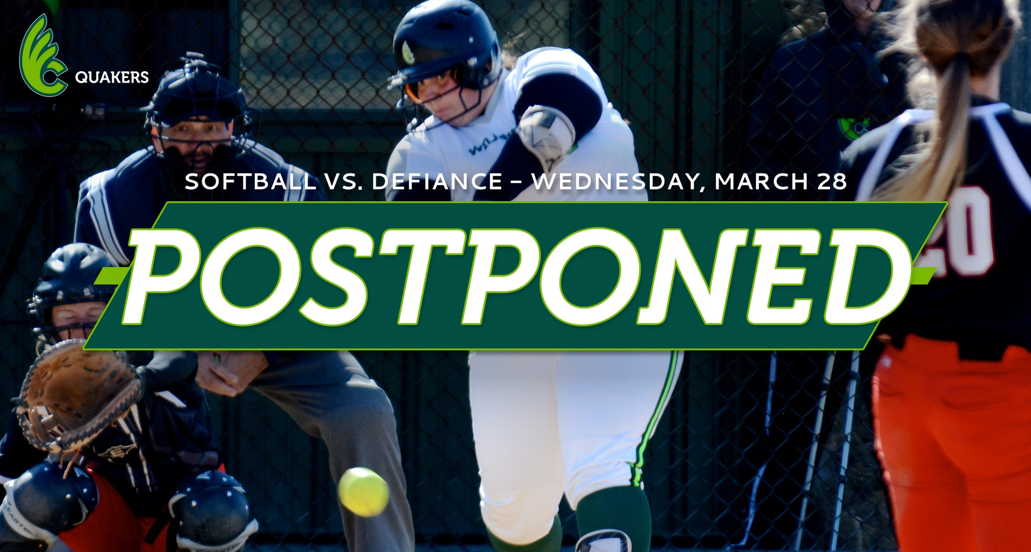 Softball Doubleheader With Defiance Postponed