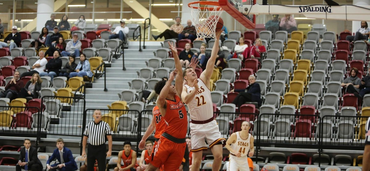 Maxwell Kirsch finished with 16 points off the bench on a perfect 6-6 from the field including 3-3 from three-point land in the Stags victory over Caltech.