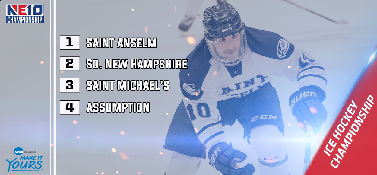 Embrace the Victory: Saint Anselm Claims No. 1 Seed in NE10 Ice Hockey Championship