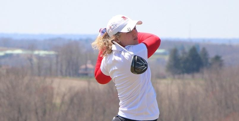 Sabrina Coffman sits in 2nd place after the opening round of the 2018 GLIAC Championships...