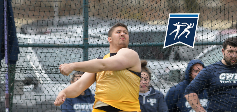 Sophomore All-OAC thrower Ted Achladis finished ninth in discus at the 2018 NCAA Championships (Photo courtesy of Jesse Kucewicz)