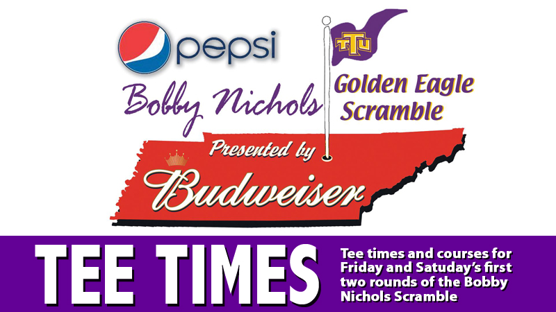 Tee times announced for opening rounds of Bobby Nichols Scramble