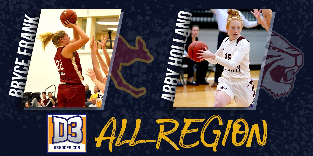 Austin College's Frank, Trinity's Holland Named to D3hoops.com All-South Region Team