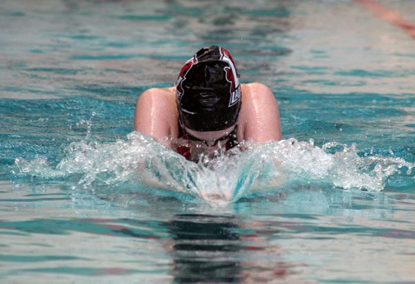 Swimming: Cross, Dent set school records in meet against Greensboro