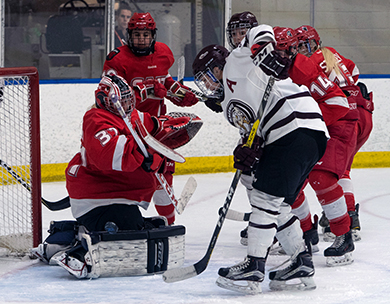 Griffins find finishing touch, scoring five times to complete weekend sweep of SAIT