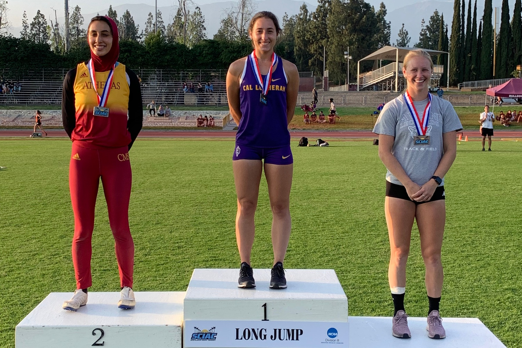 Guidetti Claims Long Jump Title on Day One of SCIAC Champs
