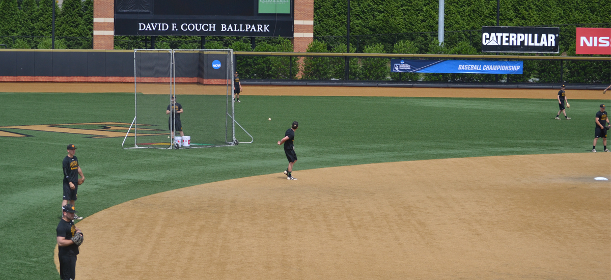 Photos and Comments from UMBC Baseball's Workout Day at Wake Forest