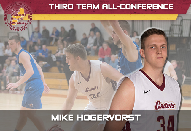 Men's Basketball: Hogervorst collects third career All-Conference honor