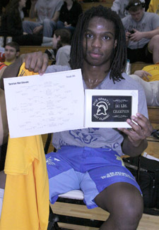Mount junior wrestler Wayne  Black won first place in the 141-pound division.