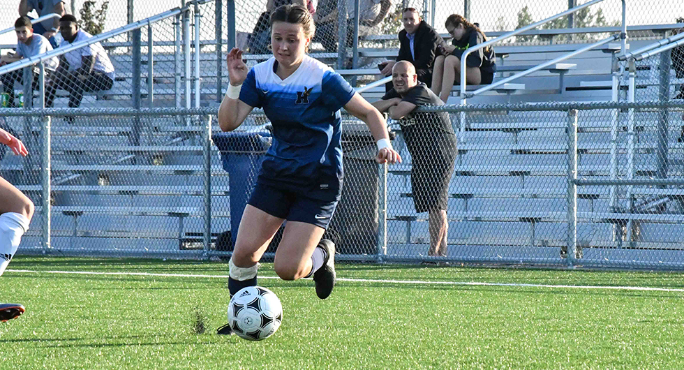 No. 6 WOMEN'S SOCCER BLANK No. 11 CAMBRIAN, CLINCH DIVISION TITLE