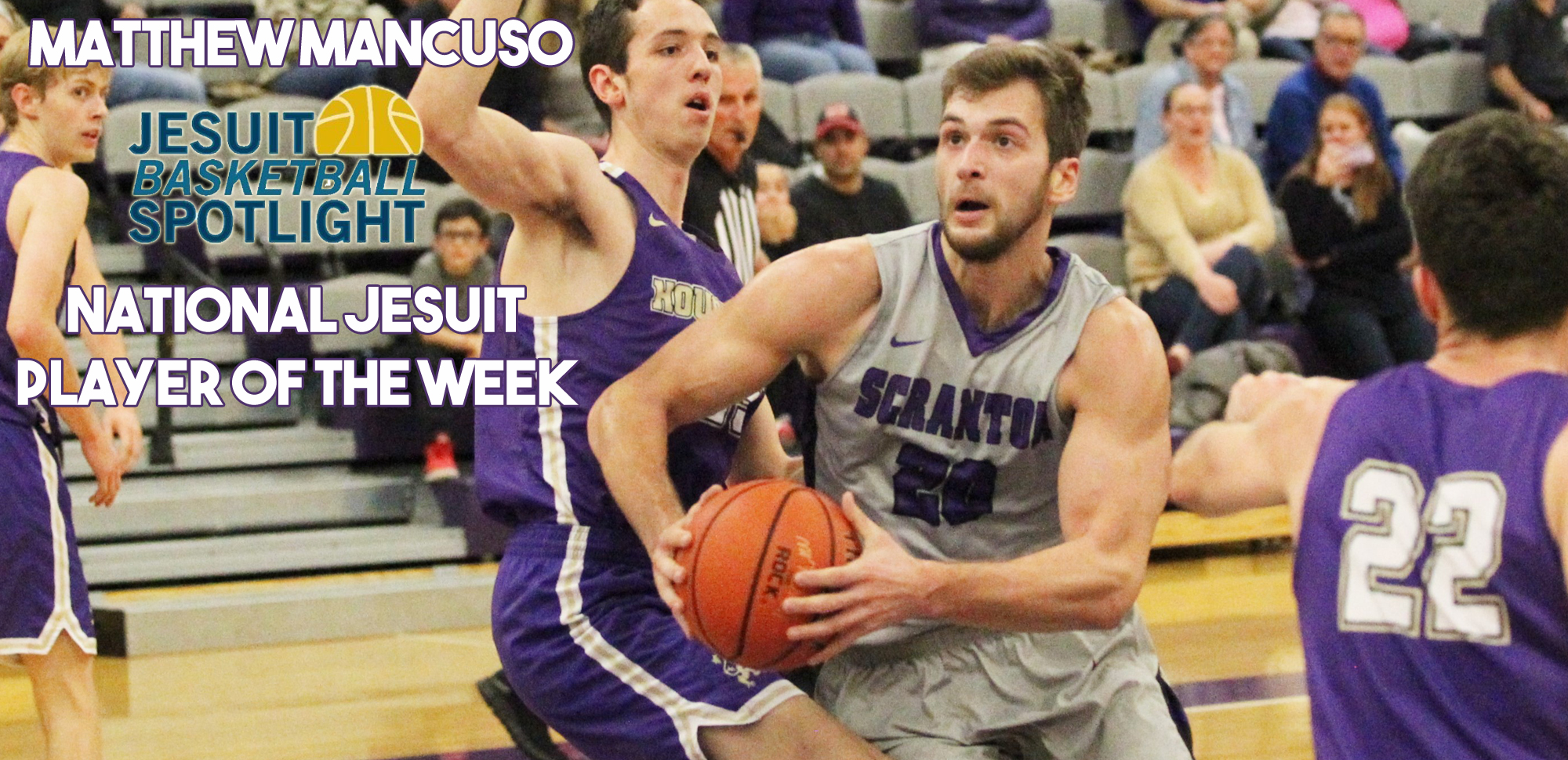 Men's Basketball's Mancuso Earns National Jesuit Player of the Week Honors