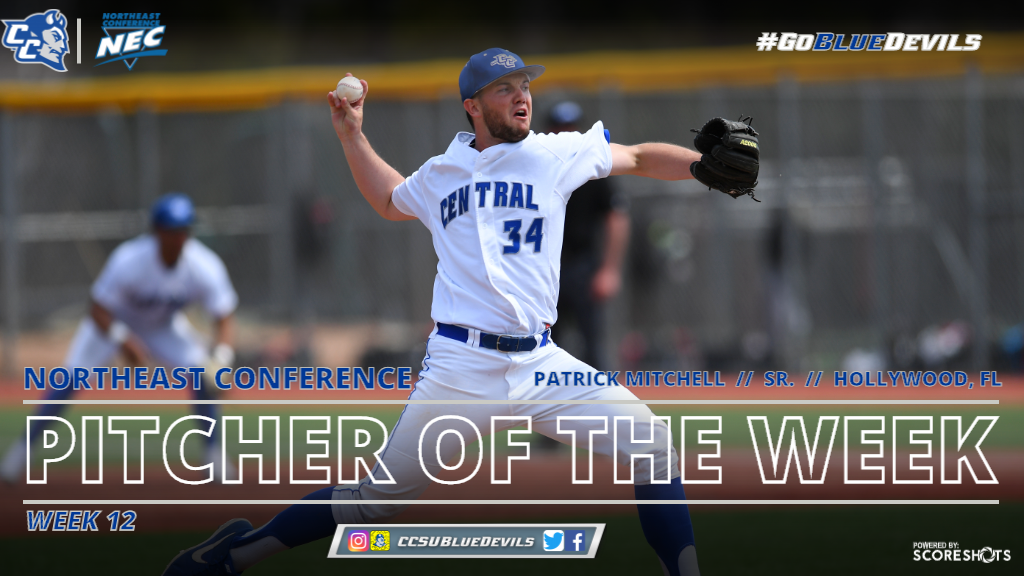Mitchell Named NEC Pitcher of the Week