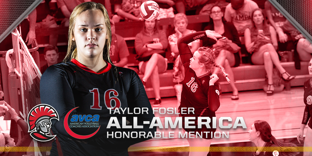 Taylor Fosler Recognized as AVCA Honorable Mention All-America