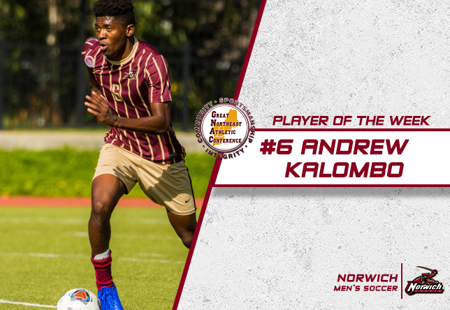 Andrew Kalombo GNAC Player of the Week