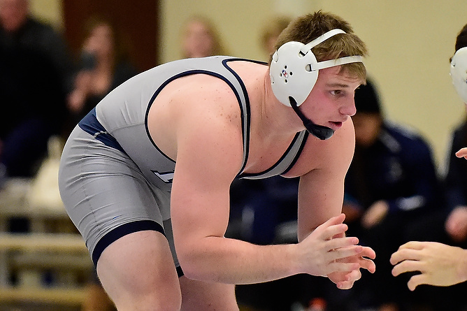 Wrestling Defeats Keystone; Paulson Records Pair of Pins