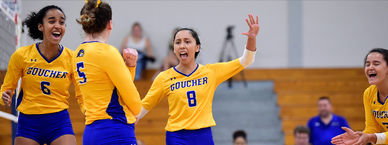 Goucher Women's Volleyball Upended Twice At Wesley