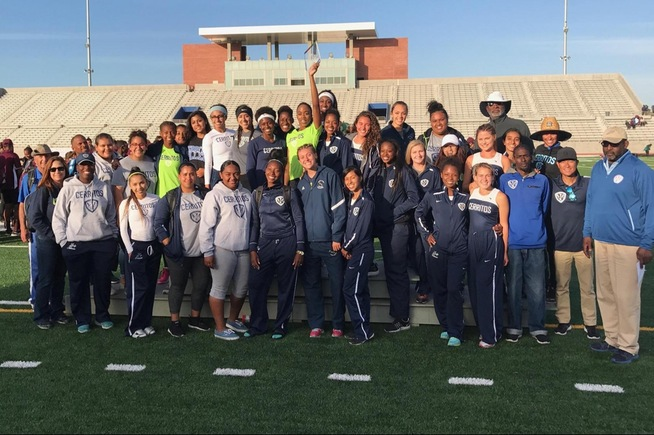 Cerritos women's track & field won their 5th straight SCC Championship