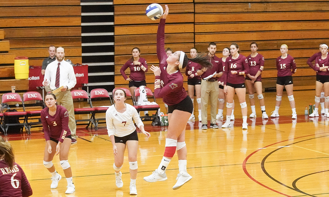 Pride Women's Volleyball Succumbs to Lasell Comeback