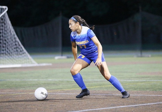 WOMEN'S SOCCER CLINCHES HOME PLAYOFF GAME WIN 2-0 WIN OVER SIMMONS