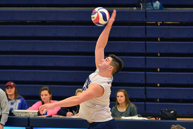 Men's Volleyball Wins Three Unanswered Sets to Defeat Wilson