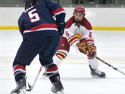 Casey Haines tallied Ferris State's final two goals, including the game-winner, in Friday's overtime victory.
