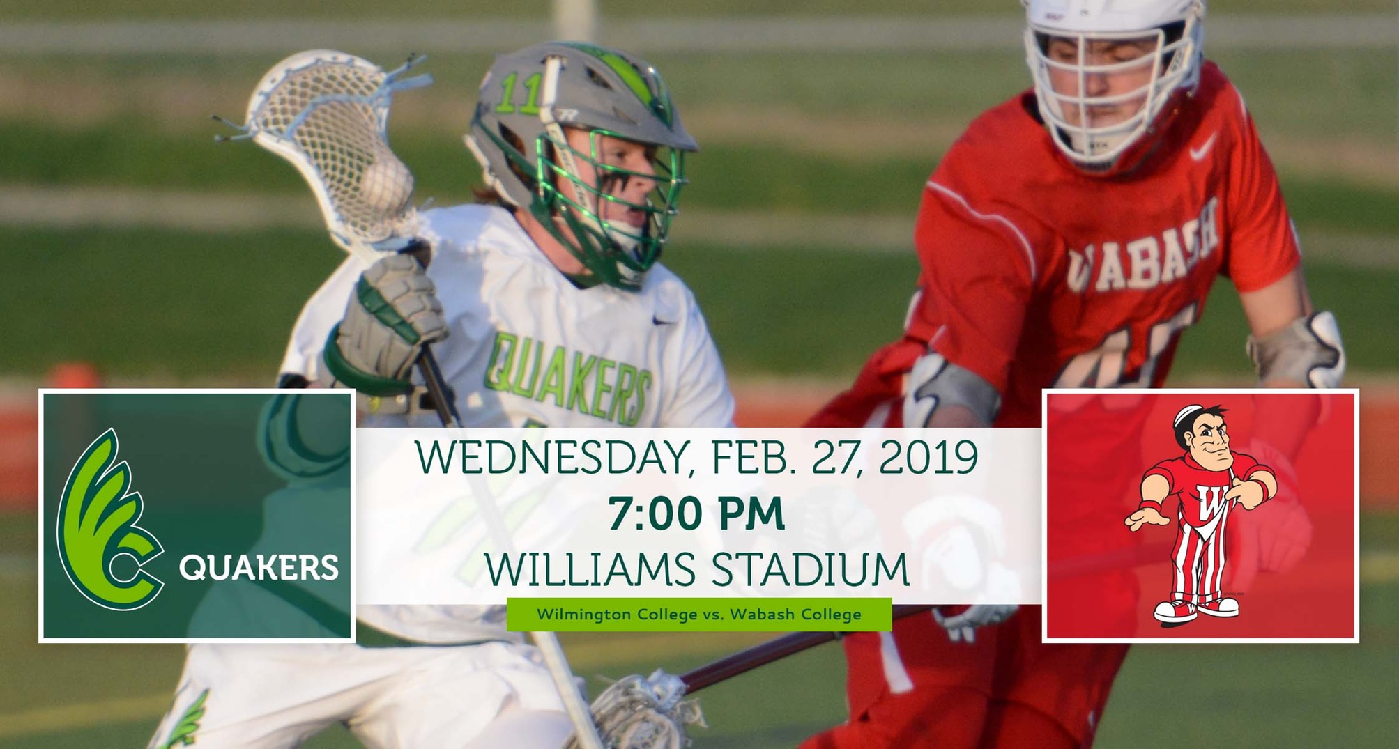 Men's Lacrosse Hosts Wabash in Home-Opener on Wednesday