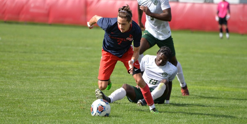 Michael Hamilton had the lone SVSU goal in the victory off a penalty kick...