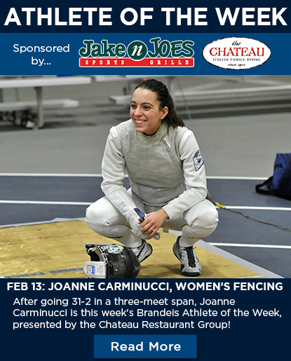 Joanne Carminucci '19, Brandeis Athlete of the Week spotlight athlete photo