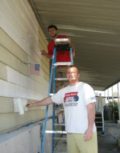 Stags Football Volunteers For Habitat For Humanity