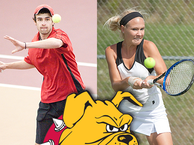 Bulldog Tennis Teams Split Matches