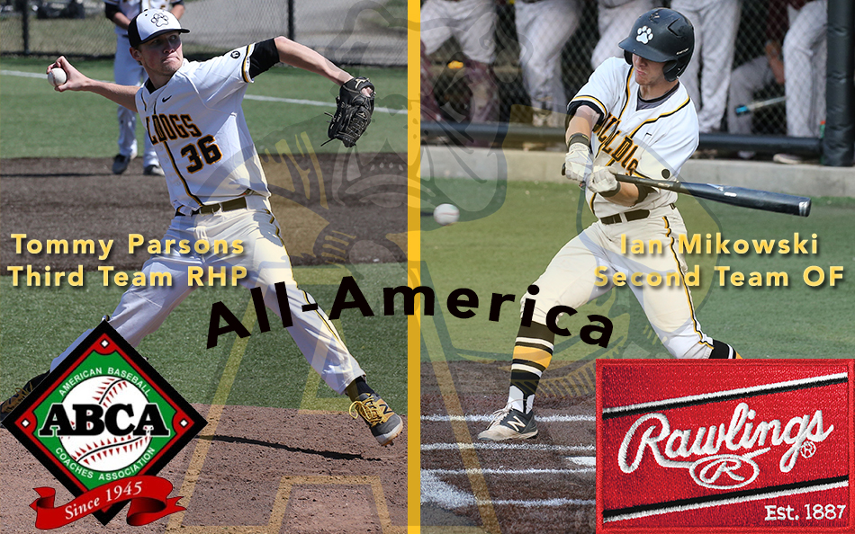 This marks the first time Adrian baseball history that two Bulldogs made ABCA All-America in the same season. (Action photos by Mike Dickie)