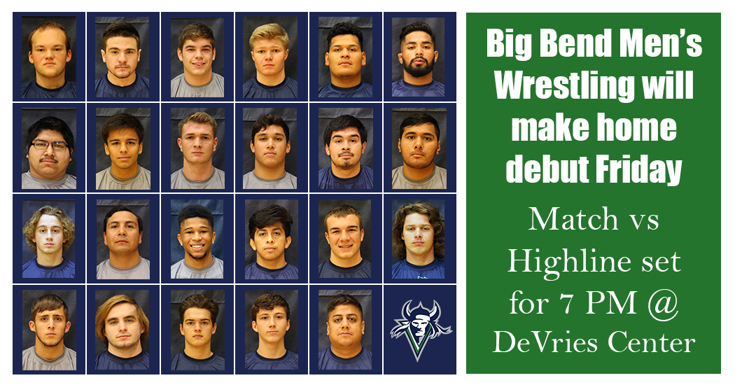 The Big Bend Men's Wrestling program will be in action for the first time since the 1994-95 season this Friday beginning at 7 p.m. inside the Peter C. DeVries Center.