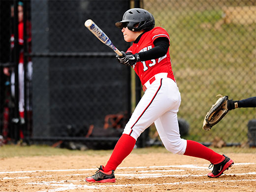 Softball pounds out 9-1 win in 2nd game to earn split with Griffins